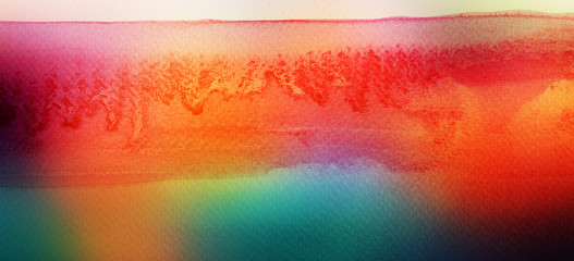 Keuken foto achterwand Rood Abstract acrylic and watercolor brush strokes painted background