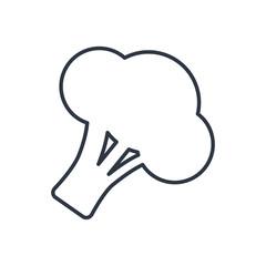 Vector broccoli outline icon. Food symbol