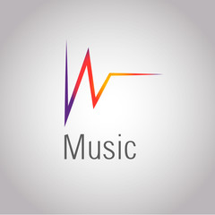 Nice music logo. Vector ilustration eps 10