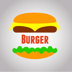 Nice Vector logo for Food Burger Fo EPS 10