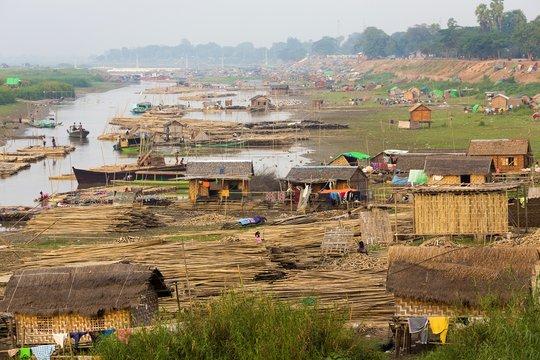 Slum area in Myanmar