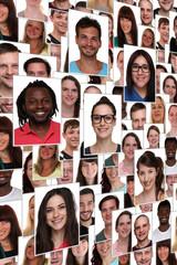 Hintergrund multikulturell jung glücklich lachen Menschen Leute