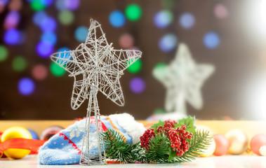Christmas star and lights