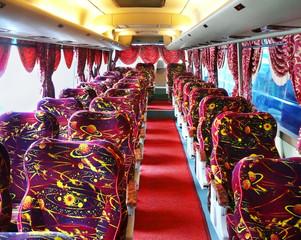 Empty luxury bus