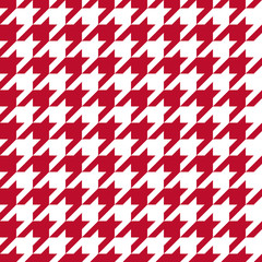 Seamless corporate red and white houndstooth pattern vector