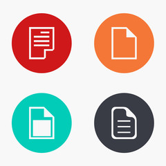 Vector modern file colorful icons set