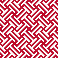 Seamless corporate red and white ethnic op art tribal pattern vector