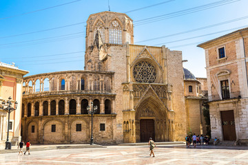 Square of Saint Mary's in Valencia