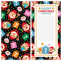 Christmas Invitation Card Santa Claus
