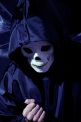 Creepy skull, Halloween night