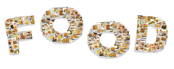 Word Food Collage