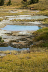 Thermal pools and lime crust, Yellowstone National Park, Wyoming