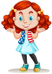 American girl with red hair