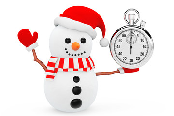 Snowman with Stopwatch