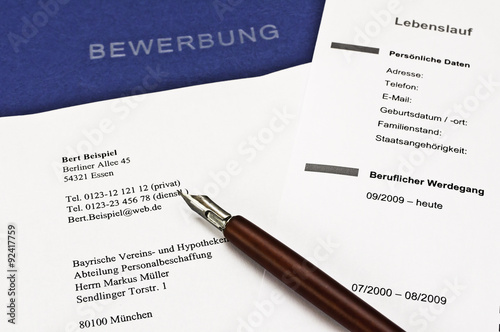 bewerbung stock photo and royalty free images on fotoliacom pic 92371118 - Muller Bewerbung