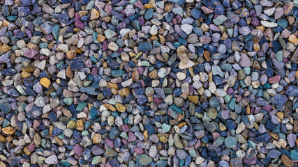 Colored small pebbles