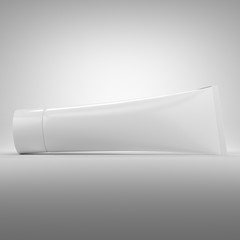 White blank cosmetics tube packaging. Best for hand or face cream.