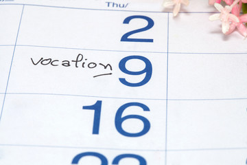 Reminder on vocation  Appointment