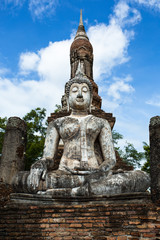 Lord Buddha image was respectfully engaged placed at an ancient temple called Wat (temple) Trapang Ngoen. The temple is part of the Sukhothai Historical Park, which is now a World Heritage site.