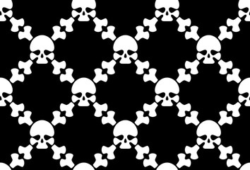 Seamless crossbones wallpaper.