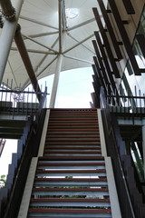 the stair in modern building