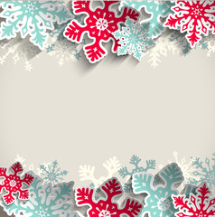 Christmas background with snowflakes, winter concept