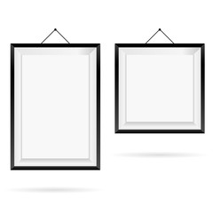 picture frame two vector illustration