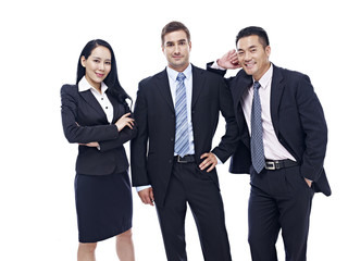 studio portrait of a multinational business team