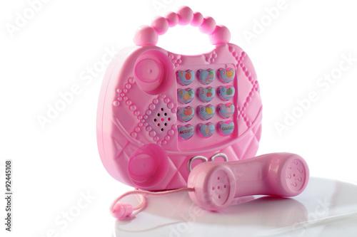 Telefono Giocattolo Rosa Da Bambino Giocattolo Per Bambina Sfondo