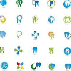 Zähne Logos Sammlung, Zahn, Zahnarzt