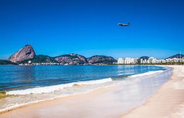 Botafogo beach and Sugarloaf  mountain,Rio de Janeiro, Brazil. Wall mural