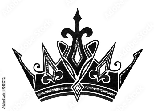 Black queen crown symbol