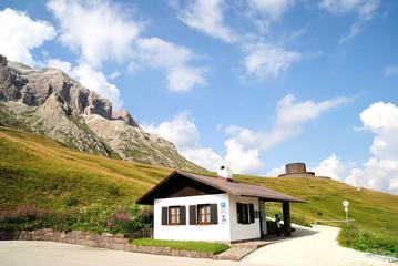 Alpeggio alpino Dolomiti