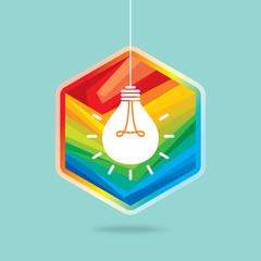 colourful creative idea light bulb