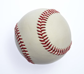 Baseball isolated on white. Clipping path included.