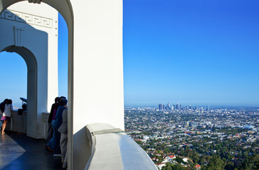 U.S.A., California, Los Angeles, view on the city from the Griffith Observatory