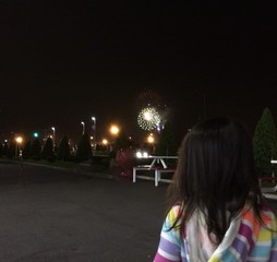 Look into the fireworks far away