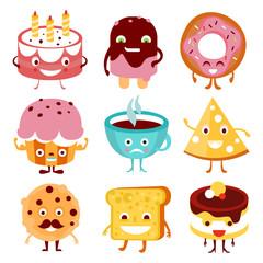 Funny Cartoon Food and Drink