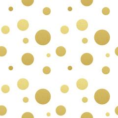 Classic dotted seamless gold glitter pattern.