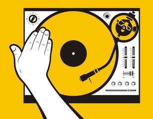 Dj scratch vinyl