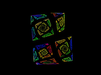 Abstract fractal stained glass