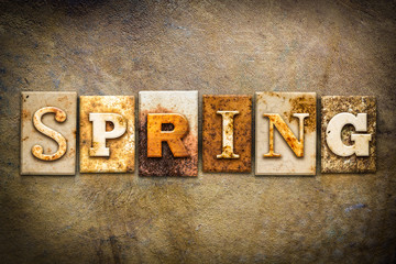 Spring Concept Letterpress Leather Theme