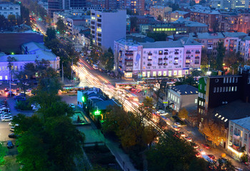 Russia. Rostov-on-Don. Red Army street. Evening cityscape