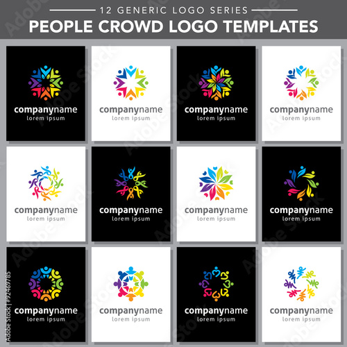 Generic Logo Series People Crowd Logo Templates Stock Image - Generic company logo free