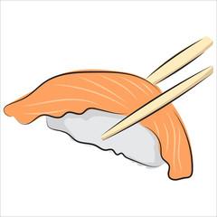 Image of sushi on a white background