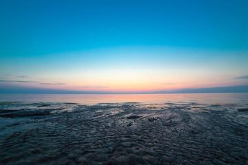 Night sea water
