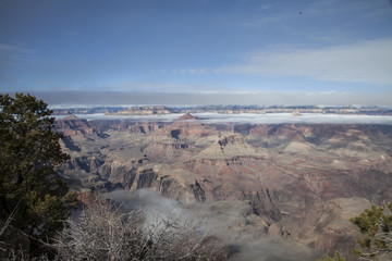 Winter Fog in the Grand Canyon, Arizona 2015-10-02 3