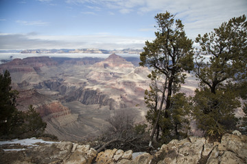 Winter Fog in the Grand Canyon, Arizona 2015-10-02 2