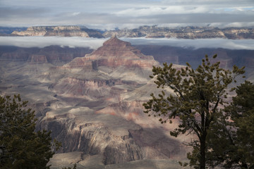 Winter Fog in the Grand Canyon, Arizona 2015-10-02 1