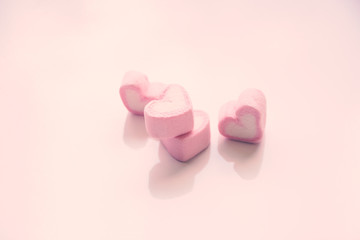 Heart shape pink candy